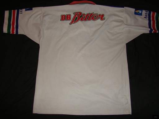 1995 Warriors Lenco away jersey back