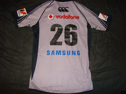 2009 Warriors U20 open trial #26 jersey back.<br />